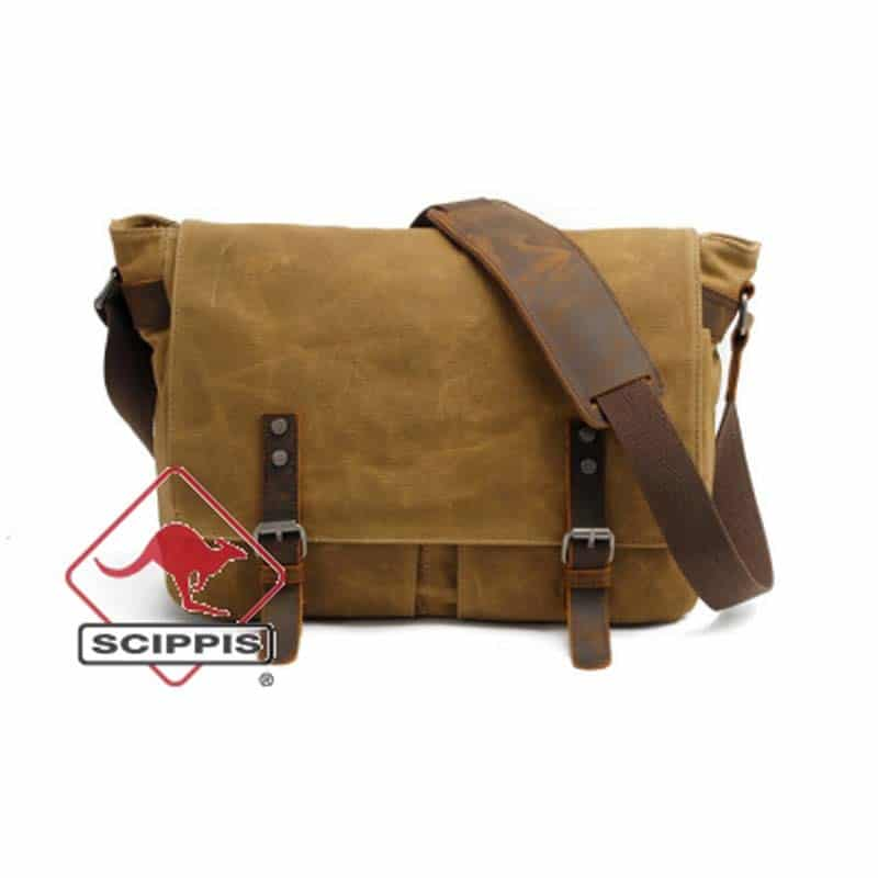 Japoon Messenger Bag i canvas Scippis