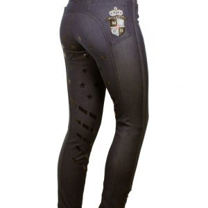 Ridbyxa Equestrian Star Crystal Denim