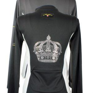 Piké Signatur Crown zipper lång ärm